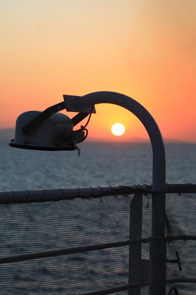 δειλινό στο καράβι