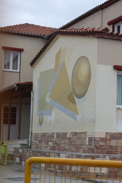 Αιδηψός τοιχογραφία