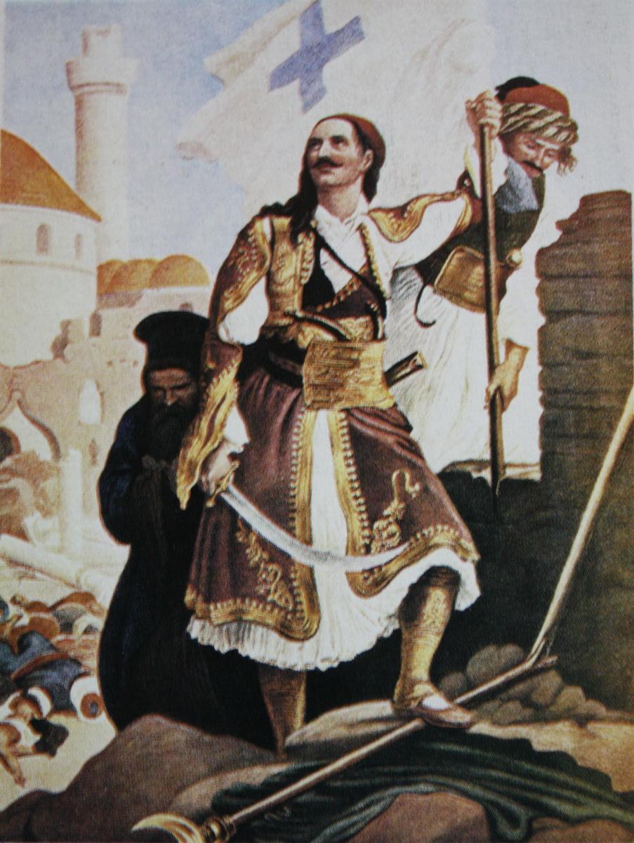 Ο Παναγιώτης Κεφάλας υψώνει την σημαία της επανάστασης στην Τρίπολη.
